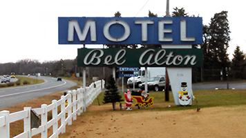 Bel Alton Motel sign